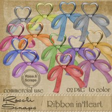 Ribbon In Heart PNG Templates by Rose.li