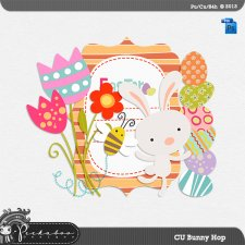 Bunny Hop Layered Template by Peek a Boo Designs