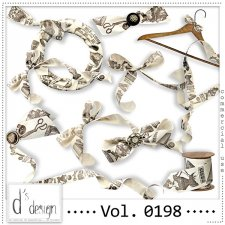 Vol. 0198 Vintage Ribbons Mix by Doudou Design