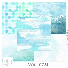 Vol. 0724 Summer Sea Papers by D's Design