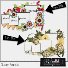 Cluster Frames Layered Templates Pack No 3
