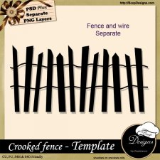 Crooked Fence TEMPLATE by Boop Designs