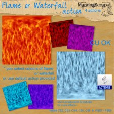 Flame or Waterfall Paper Action by Mandog Scraps