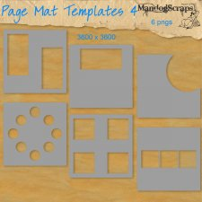 Page Mat Templates 4 by Mandog Scraps