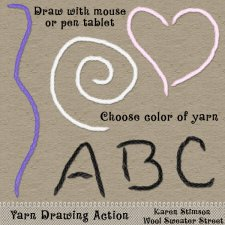 Yarn Drawing Action by Karen Stimson