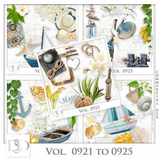 Vol. 0921 to 0925 Summer Sea Mix by D's Design