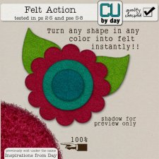 Felt Action - CUbyDay EXCLUSIVE