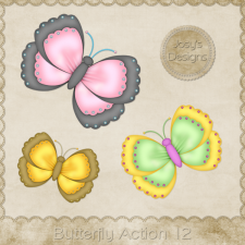 Butterfly Action 12 by Josy
