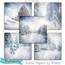 Scenic papers 23 Winter by Kastagnette