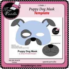 Puppy Dog Mask TEMPLATE by Boop Printable Designs