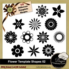 Flower Shapes TEMPLATES 02 by Boop Designs