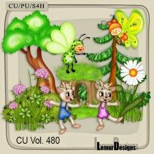 CU Vol 480 Summer Flowers Forest by Lemur Designs
