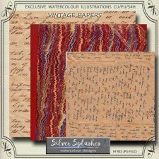 EXCLUSIVE Vintage Papers by Silver Splashes