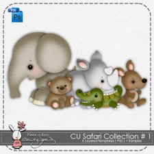 Safari Collection Layered Template 1 by Peek a Boo Designs