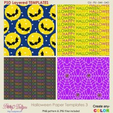 Halloween Pattern Paper TEMPLATES 3