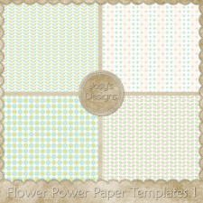 Flower Power Paper Layered Templates 1 by Josy