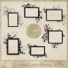 Doodled Swirly Frames 3 by Josy