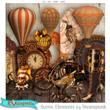 Scenic Elements 24 Steampunk by Kastagnette