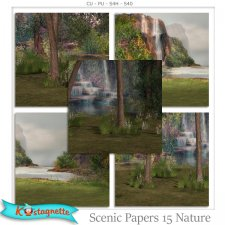 Scenic Papers 15 Nature by Kastagnette