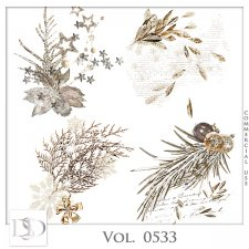 Vol. 0533 Winter Christmas Accents by D's Design