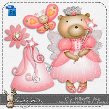 Princess Bear Layered Template by Peek a Boo Designs