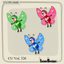 CU Vol 326 Butterfly 1 by Lemur Designs