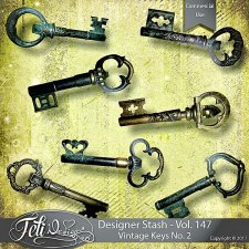 Designer Stash Vol 147 - Vintage Keys No 2 by Feli Designs