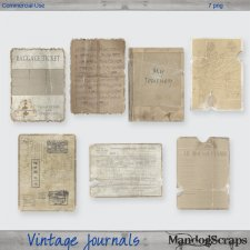 Vintage Journals by Mandog Scraps
