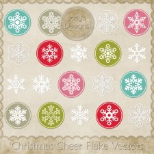 Christmas Cheer Flake Layered Vector Templates by Josy