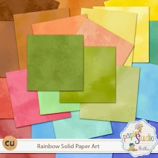 Rainbow Solid Paper Art EXCLUSIVE by PapierStudio Silke