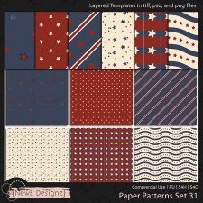 EXCLUSIVE Layered Paper Patterns Templates Set 31 by NewE Designz