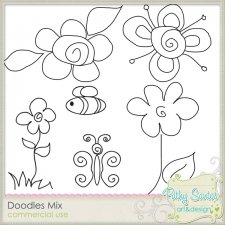 Doodles Mix 01 - Spring Flowers by Pathy Design