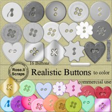 Realistic Buttons PNG Tempalte by Rose.li