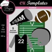 Football TEMPLATE by Boop Designs