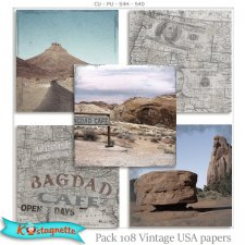 Pack 108 USA Papers by Kastagnette
