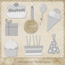 Celebration Layered Templates by Josy