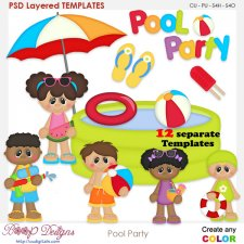 Pool Party Layered Element Templates