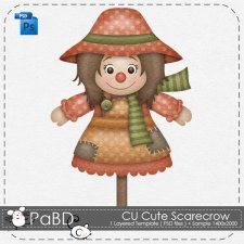 Cute Scarecrow Layered Template by Peek a Boo Designs