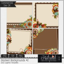 Stacked Backgrounds Layered Templates Pack No 2