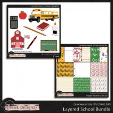 EXCLUSIVE Layered School Templates BUNDLE by NewE Designz