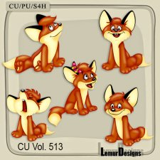 CU Vol 513 Fox Animal Elements by Lemur Designs
