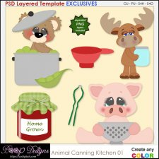 Animal kitchen Canning 01 - EXCLUSIVE TEMPLATES