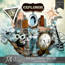 Designer Stash Vol 148 - Explorer No 1 by Feli Designs