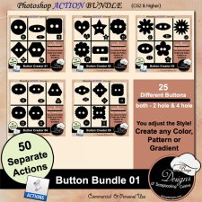 Button BUNDLE 01 ACTION by Boop Designs