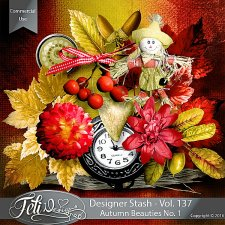 Designer Stash Vol 137 - Autumn Beauties No 1 by Feli Designs