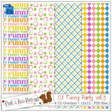 Funny Party vol 3 Pattern Layered Template by Peek a Boo Designs