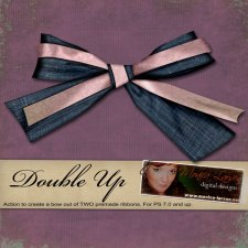 Double Up Bow Action by Monica Larsen