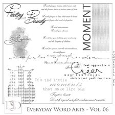 Everyday Word Arts Vol 06 by D's Design