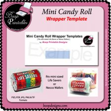 Mini Sized Candy Roll Wrap by Boop Printable Designs
