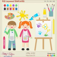 Little Artist Layered Vector Templates